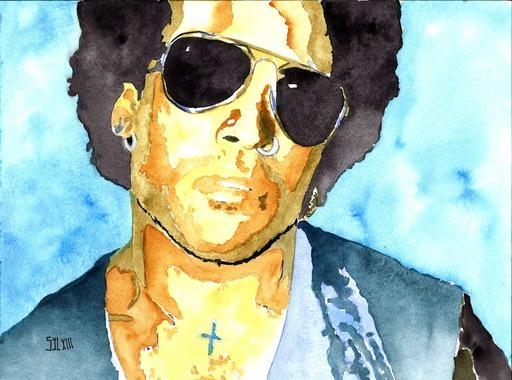 Lenny Kravitz by aquarelle-autrement